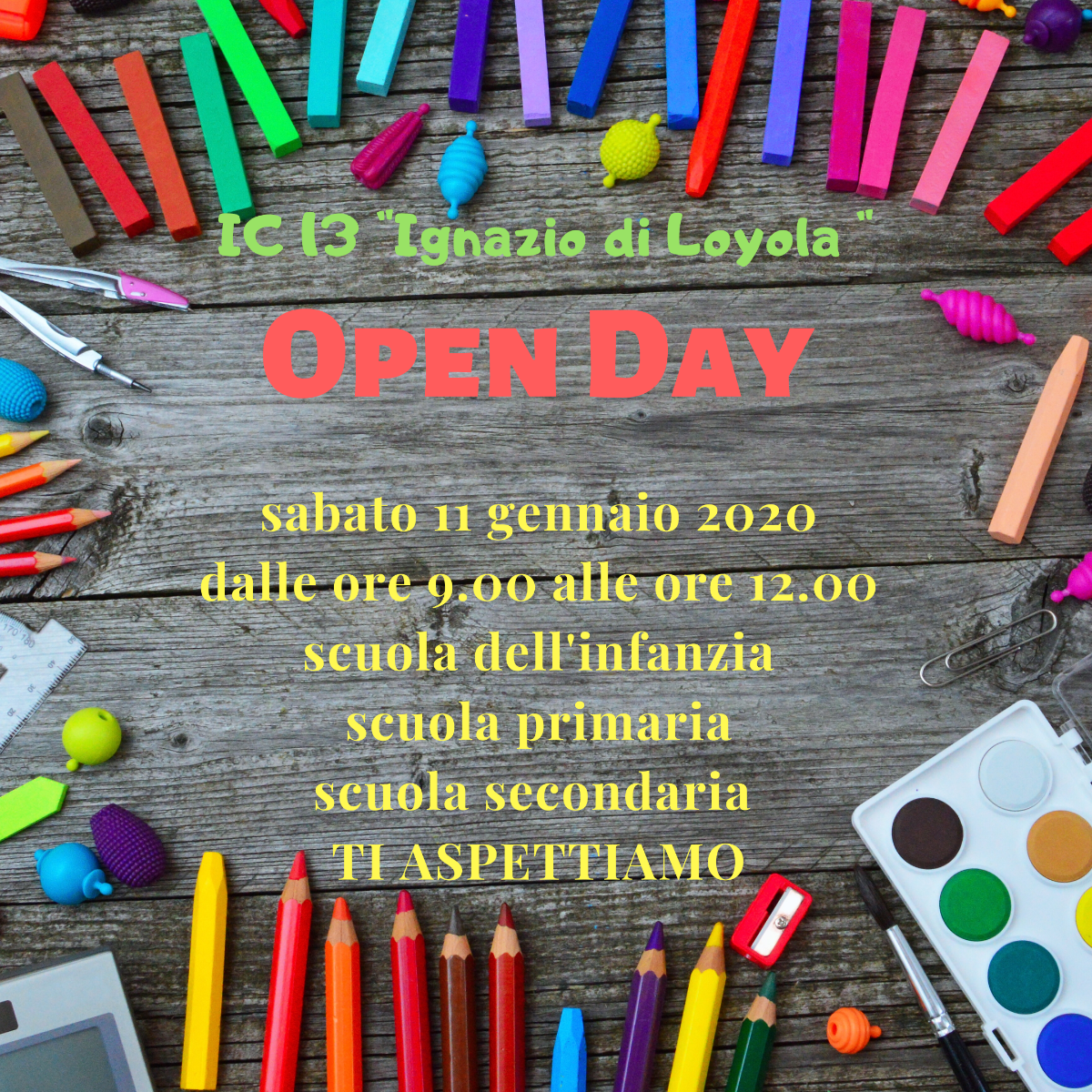 OPEN DAY anno scolastico 2019-2020
